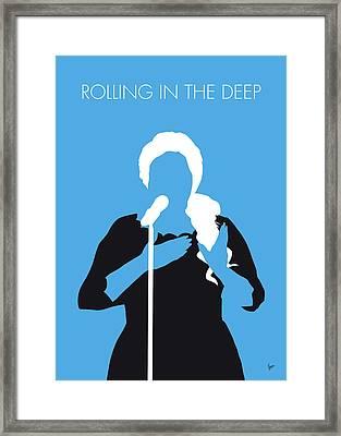 No099 My Adele Minimal Music Poster Framed Print