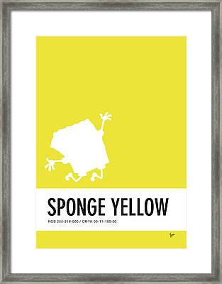 No10 My Minimal Color Code Poster Spongebob Framed Print by Chungkong Art
