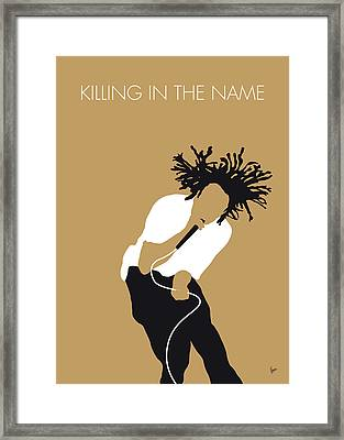 No100 My Rage Against The Machine Minimal Music Poster Framed Print