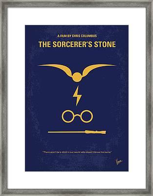 No101-1 My Hp - Sorcerers Stone Minimal Movie Poster Framed Print
