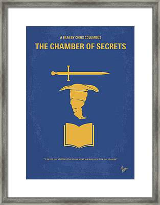 No101-2 My Hp - Chamber Of Secrets Minimal Movie Poster Framed Print by Chungkong Art
