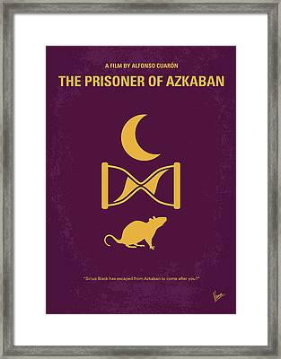 No101-3 My Hp - Prisoner Of Azkaban Minimal Movie Poster Framed Print by Chungkong Art