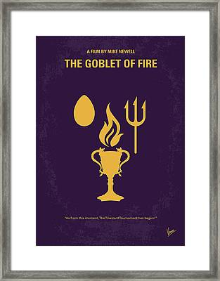 No101-4 My Hp - Goblet Of Fire Minimal Movie Poster Framed Print