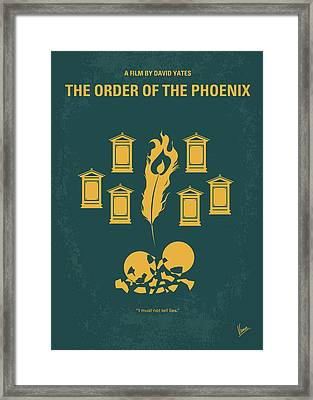 No101-5 My Hp - Order Of The Phoenix Minimal Movie Poster Framed Print