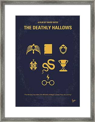 No101-7 My Hp - Deathly Hallows Minimal Movie Poster Framed Print