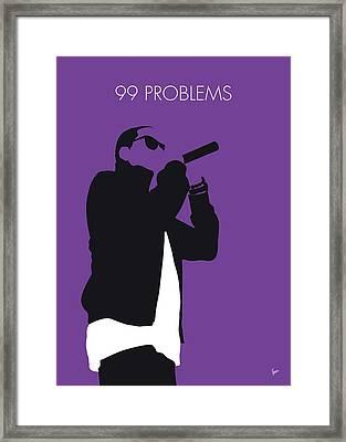 No101 My Jay-z Minimal Music Poster Framed Print