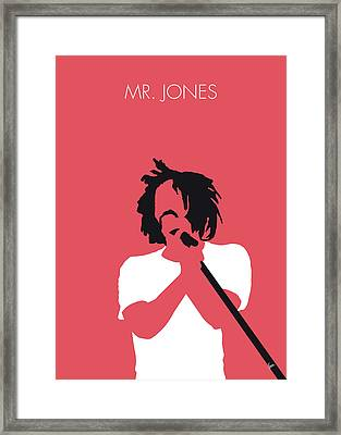 No102 My Counting Crows Minimal Music Poster Framed Print