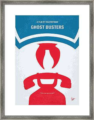 No104 My Ghostbusters Minimal Movie Poster Framed Print