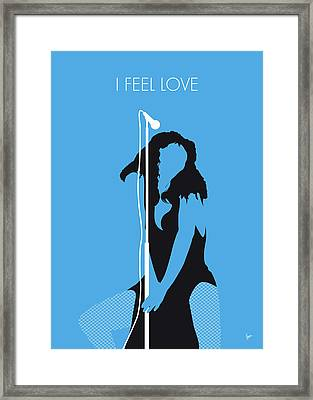No109 My Donna Summer Minimal Music Poster Framed Print