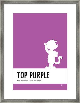 No11 My Minimal Color Code Poster Top Cat Framed Print by Chungkong Art