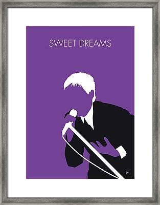 No111 My Eurythmics Minimal Music Poster Framed Print
