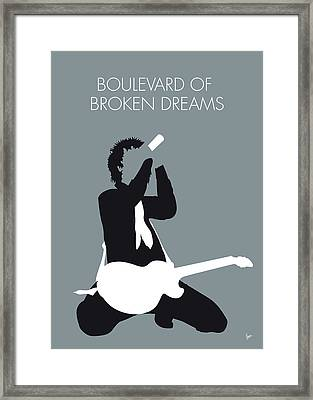 No117 My Green Day Minimal Music Poster Framed Print