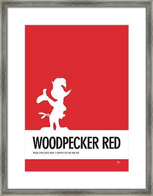 No12 My Minimal Color Code Poster Woody Woodpecker Framed Print by Chungkong Art