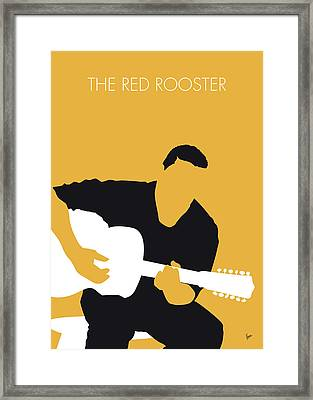 No124 My Howlin Wolf Minimal Music Poster Framed Print