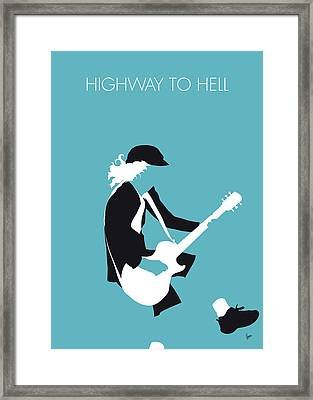 No125 My Acdc Minimal Music Poster Framed Print