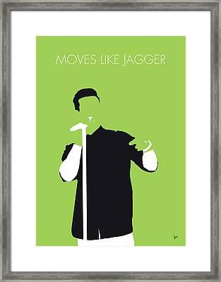 No126 My Maroon 5 Minimal Music Poster Framed Print