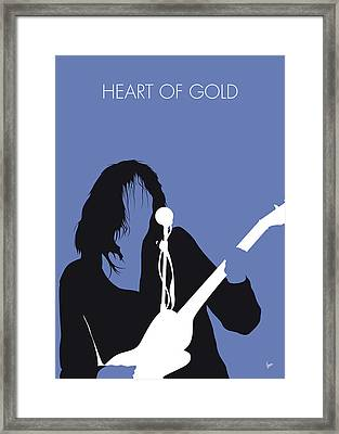 No128 My Neil Young Minimal Music Poster Framed Print