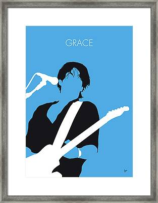 No129 My Jeff Buckley Minimal Music Poster Framed Print
