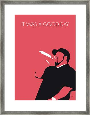 No132 My Ice Cube Minimal Music Poster Framed Print
