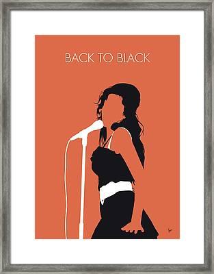 No133 My Amy Winehouse Minimal Music Poster Framed Print