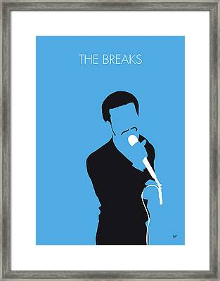 No139 My Kurtis Blow Minimal Music Poster Framed Print