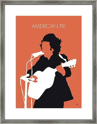 No143 My Don Mclean Minimal Music Poster Framed Print