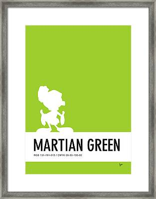 No15 My Minimal Color Code Poster Marvin Framed Print by Chungkong Art