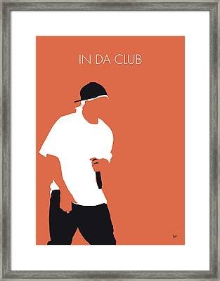 No153 My 50 Cent Minimal Music Poster Framed Print
