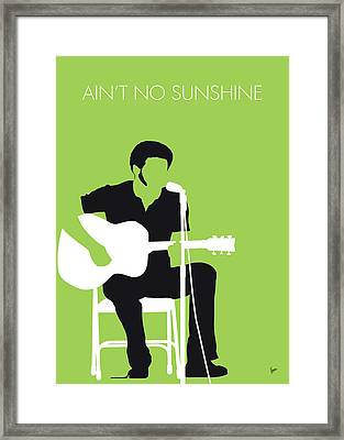 No156 My Bill Withers Minimal Music Poster Framed Print
