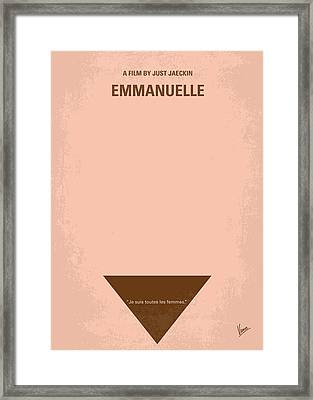No160 My Emmanuelle Minimal Movie Poster Framed Print by Chungkong Art