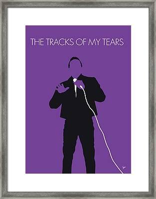 No161 My Smokey Robinson Minimal Music Poster Framed Print