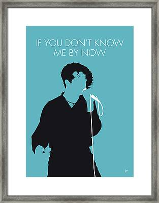 No165 My Simply Red Minimal Music Poster Framed Print