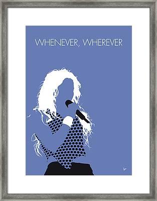 No168 My Shakira Minimal Music Poster Framed Print