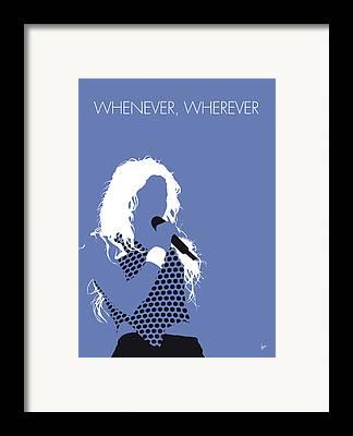Shakira Framed Prints