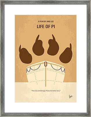 No173 My Life Of Pi Minimal Movie Poster Framed Print