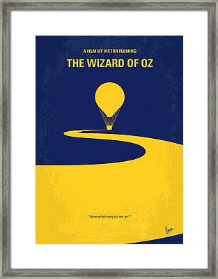 No177 My Wizard Of Oz Minimal Movie Poster Framed Print by Chungkong Art