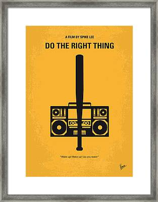 No179 My Do The Right Thing Minimal Movie Poster Framed Print