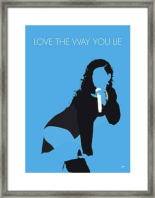 No179 My Rihanna Minimal Music Poster Framed Print