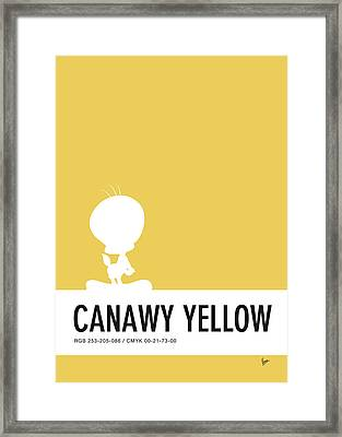 No18 My Minimal Color Code Poster Tweety Framed Print by Chungkong Art