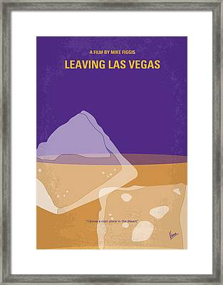 No180 My Leaving Las Vegas Minimal Movie Poster Framed Print by Chungkong Art