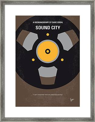 No181 My Sound City Minimal Movie Poster Framed Print by Chungkong Art