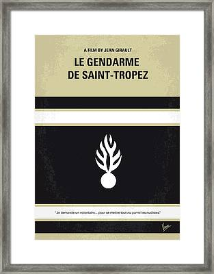No186 My Le Gendarme De Saint-tropez Minimal Movie Poster Framed Print