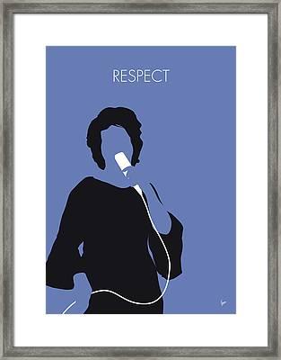 No188 My Aretha Franklin Minimal Music Poster Framed Print