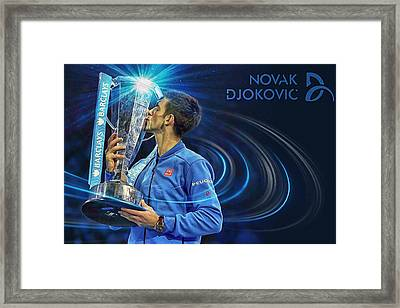 No1e  -  Novak Djokovic Framed Print by Nenad Cerovic