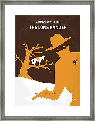 No202 My The Lone Ranger Minimal Movie Poster Framed Print
