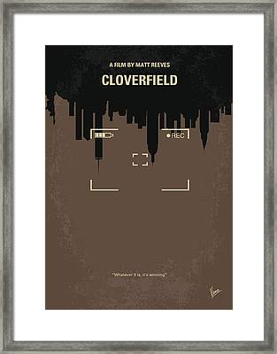 No203 My Cloverfield Minimal Movie Poster Framed Print