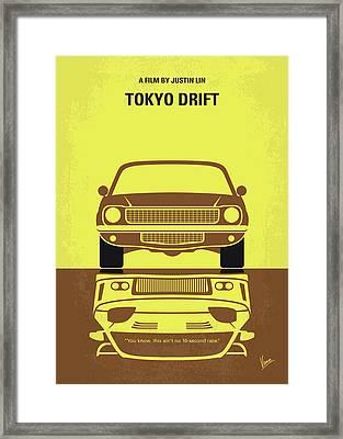 No207-3 My Tokyo Drift Minimal Movie Poster Framed Print