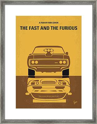 No207 My The Fast And The Furious Minimal Movie Poster Framed Print