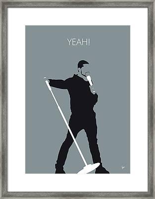 No207 My Usher Minimal Music Poster Framed Print