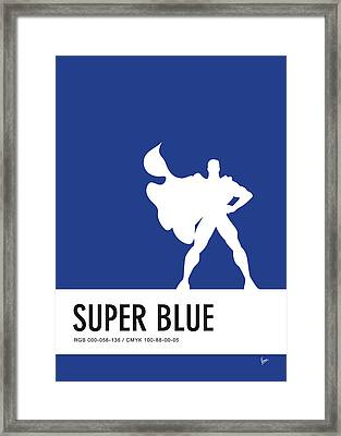 No23 My Minimal Color Code Poster Superman Framed Print